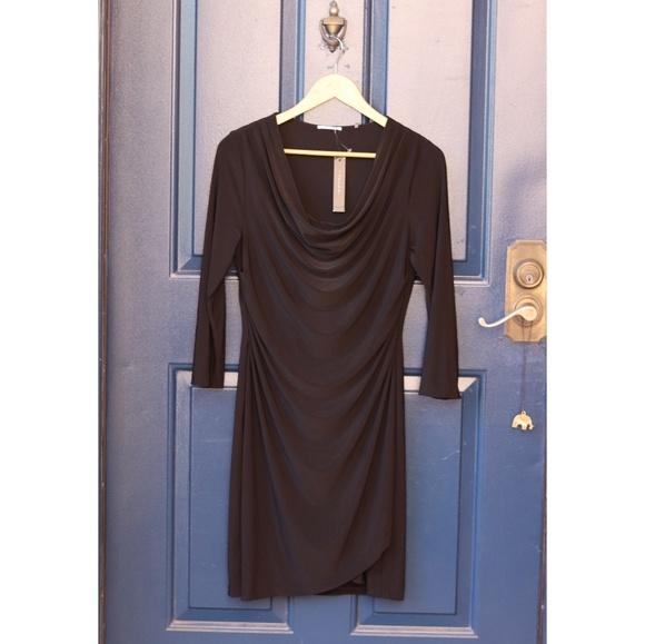 Tahari Dresses & Skirts - Tahari | NWT black cowl neck 3/4 sleeve dress